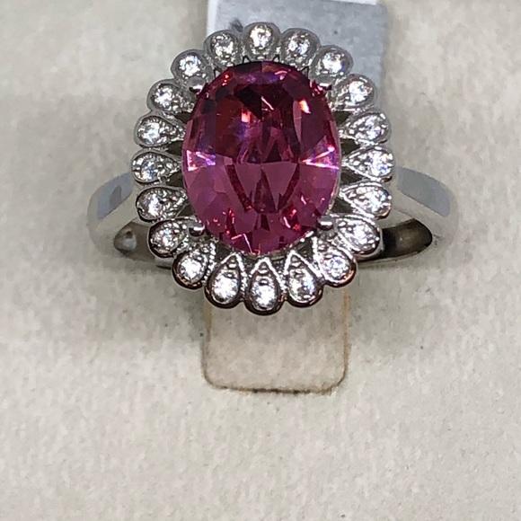 25110205b Jewelry   Pink Swarovski Crystal Sterling Silver Ring   Poshmark